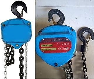 WeighTAJ Blue Pulley Block Alloy Steel Heavy Duty Chain (3ton-3mtr)