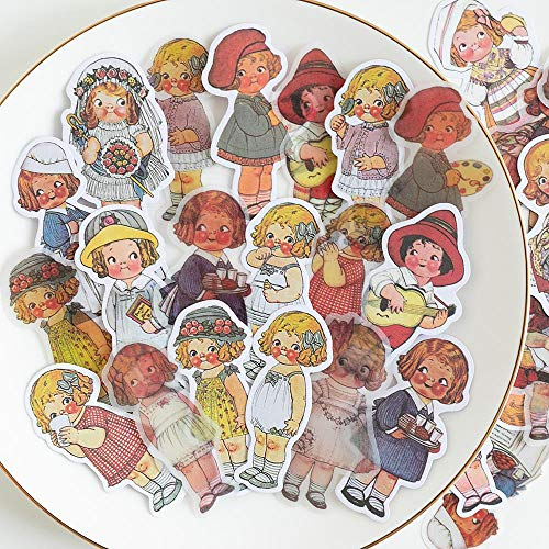 40pcs/1lot kawaii Stationery Stickers Tomato doll Diary Planner junk journal Decorative Scrapbooking DIY Craft Stickers