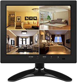 Festnight LCD Monitor,8 Inch HD TFT Color LCD Screen Security Monitor Car Rear View Camera VGA Industrial Monitor Reverse Monitor System