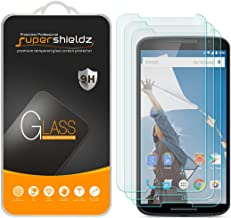 (3 Pack) Supershieldz for Google Nexus 6 Tempered Glass Screen Protector, Anti Scratch, Bubble Free