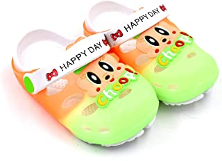 Fly Clog Slipper for Children Boys and Girls 2 to 5.5 Years Orange & Parrot