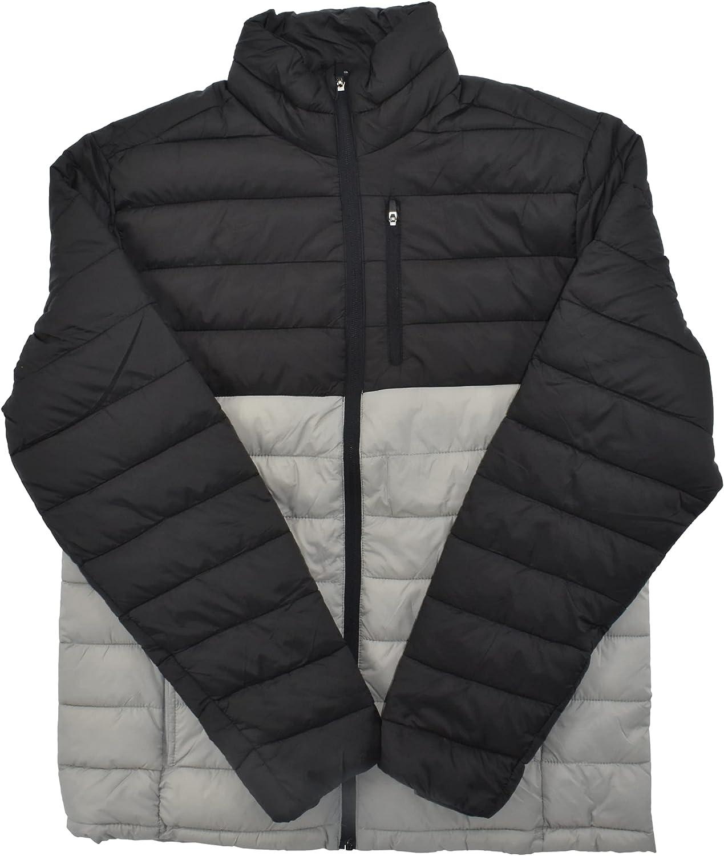 St. John's Bay Men's Water Resistant Everyday Puffer Jacket (Dark Grey Wild Dove)