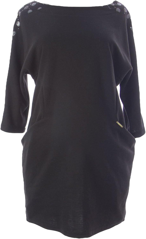 9FASHION Maternity Women's Odette Embelished Dress w Pockets Small Black