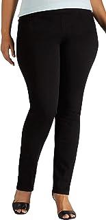 LEE 女式加大码雕塑修身直筒牛仔裤
