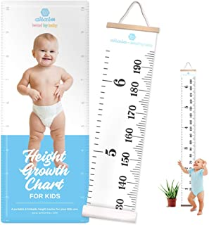 Ashtonbee Height Chart for Kids, Portable Hanging Ruler for Kids, Personalized Wall Decor on Kids Bedroom for Height Measu...