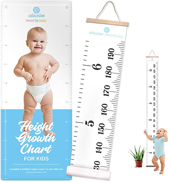 Height Growth Chart For Kids Portable Foldable Writable Hanging Wall Height Chart For Kids Toddlers And Babies