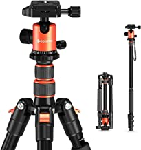 "GEEKOTO 58"" Ultra Compact Lightweight Aluminum Tripod with 360° Panorama Ball Head for DSLR, Monopod, Tripod for OSMO, Ide..."