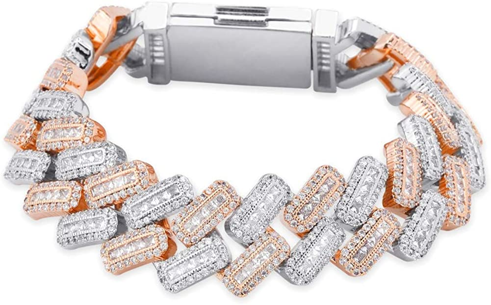 JINAO 20MM 6 Times 14k Gold Out San Francisco Mall Plated Luxury goods Iced Bracelet Link Cuban