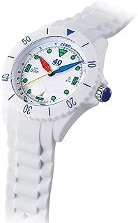 Japanese-Quartz Watch with Silicone Strap, White, 22 (Model: 40NINE02/FUN50)