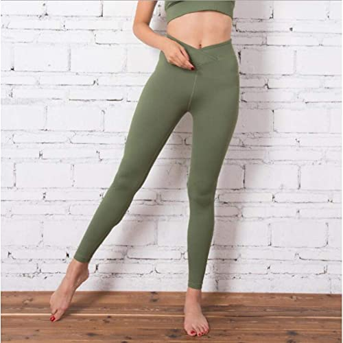 WZXY High Waist Push Up FonctionneHommest Yoga Leggings for femmes Sports Fitness Compression Pants Gym Olive vert Tights