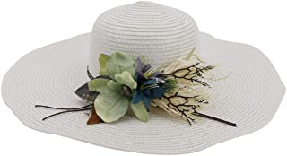 Sun Hat for men and women Summer New Beach Hat For Women's Women's Travel Hat Big Hat Flower Elegant Sunscreen