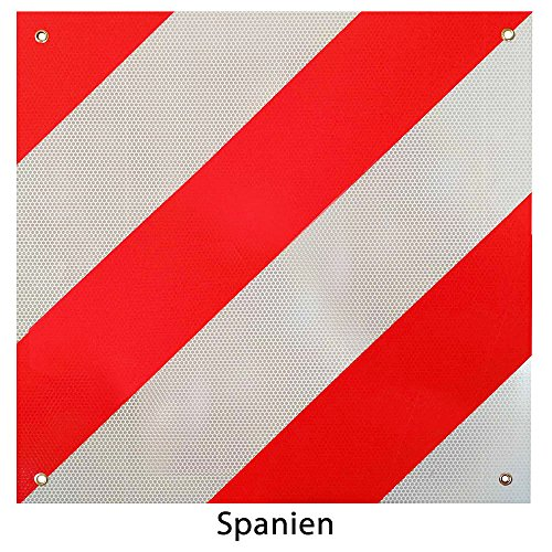 Rot-weißes Warnschild für Fahrradträger - 3