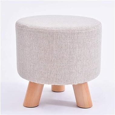 Carl Artbay Wooden Footstool Light Grey Three Footstool Round Stool Fashion Wearing A Shoe Stool Creative Low Stool Home