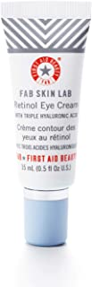 First Aid Beauty FAB Skin Lab Retinol Eye Cream with Triple Hyaluronic Acid – .5 Oz.