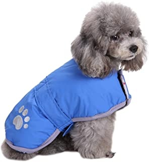 Queenmore Cold Weather Dog Coats Loft Reversible Winter Fleece Dog Vest Waterproof Pet Jacket Available in Extra Small, Small, Medium, Large Extra Large Sizes