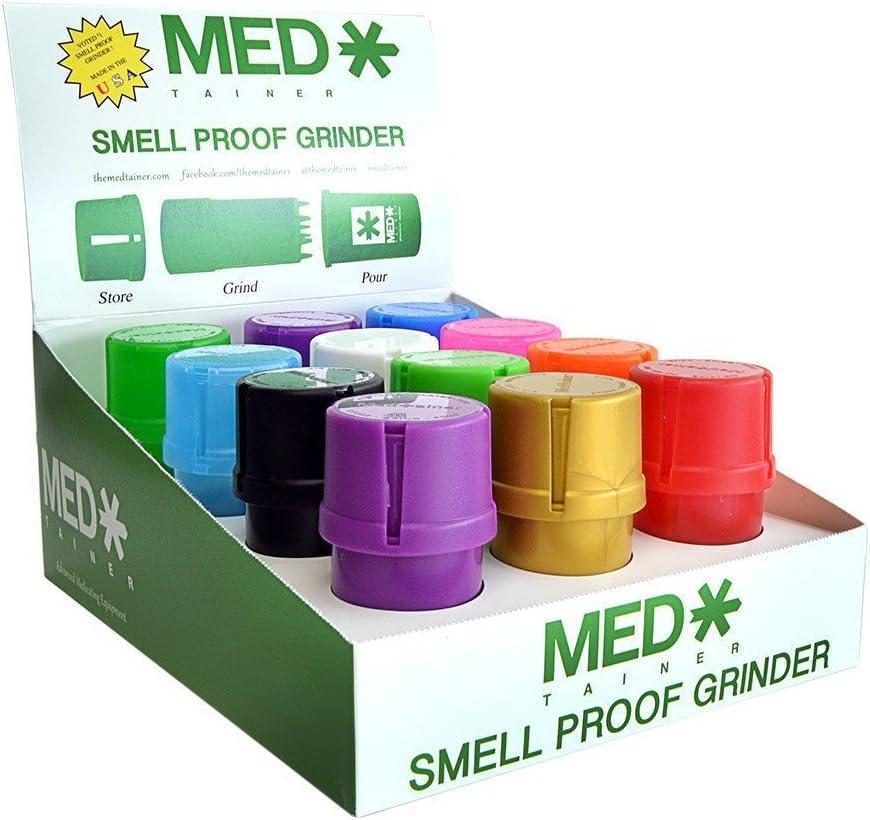 MedTainer Storage Container w Built-In Assort Pack Grinder 12 - Regular dealer Memphis Mall
