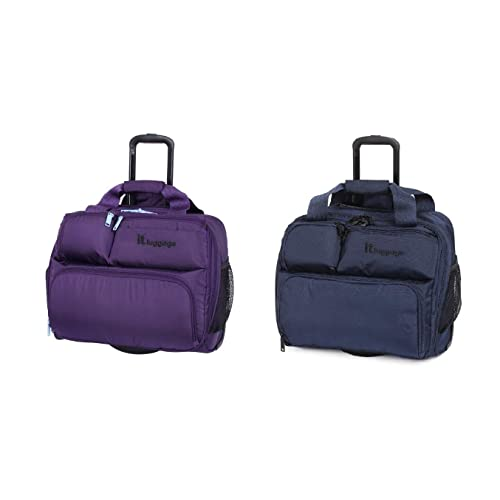 9772d059e IT Luggage Under Seat 2 Wheel Case 39cm Carry-on Luggage Grape