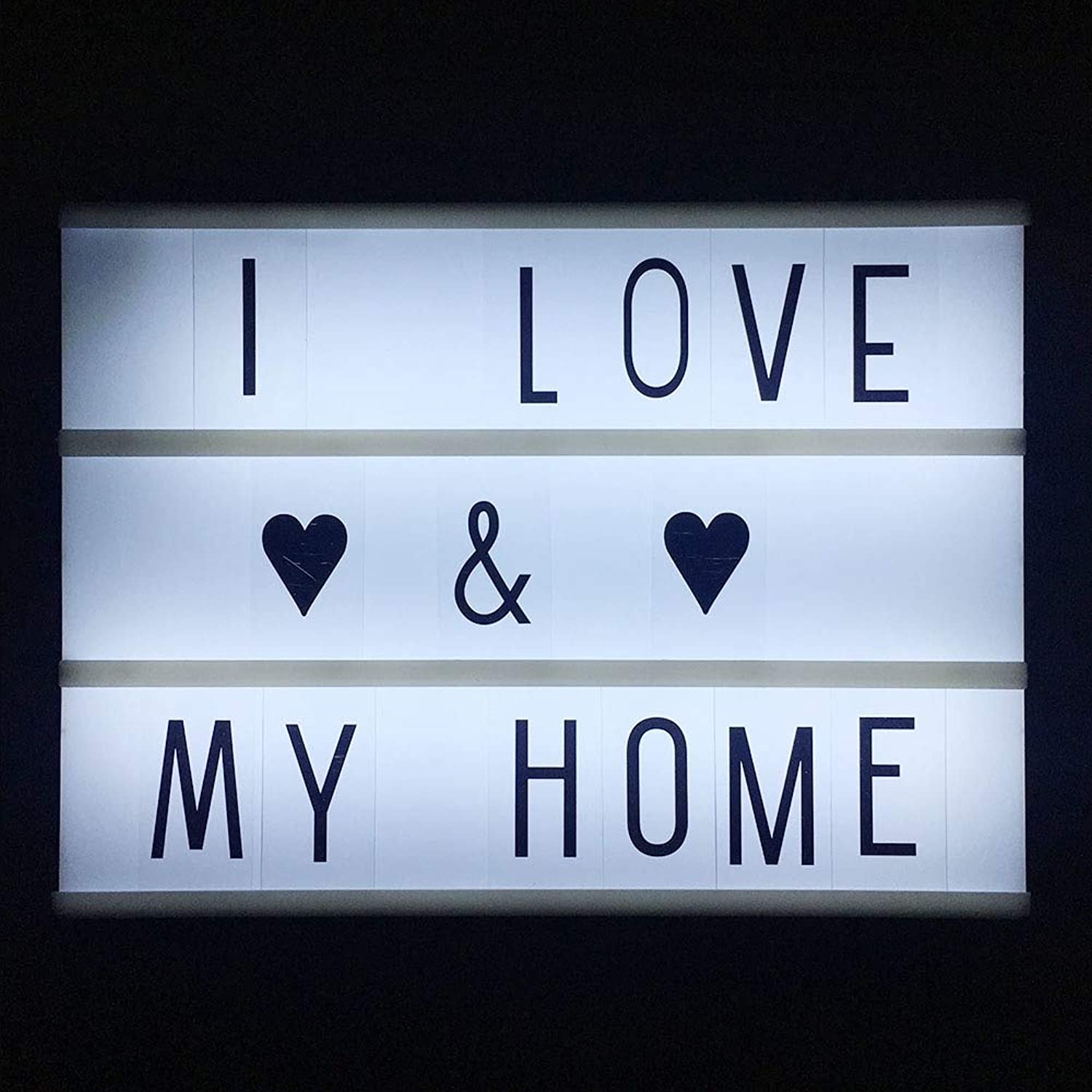 LazTipa  Cinematic Cinema A4 LED Lightbox 3 Line with Various Letters LED Night Lamp Power for DIY Home Club Decoration Lighting T0.2
