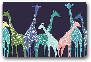 "ZMvise Felpudo de jirafa al aire libre interior de franela antideslizante alfombra de entrada 15.7 x 23.6"""