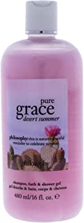 Philosophy Pure Grace Desert Summer By Philosophy for Women - 16 Oz Shampoo, Shower Gel & Bubble Bath, 16 Oz