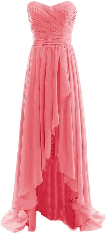 Fanciest Women's High Low Prom Dresses 2016 Long Bridesmaid Dress