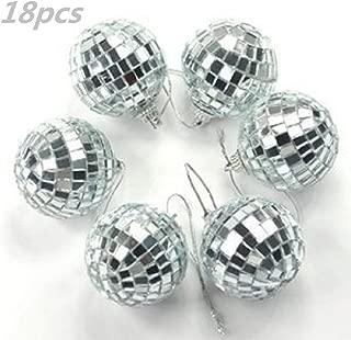 18 pcs 1.8 Inch Disco Ball Mirror Party Christmas Xmas Tree Ornament Decoration