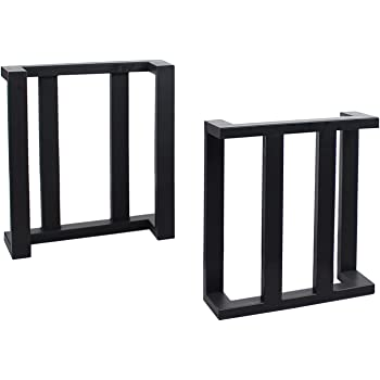 MBQQ Furniture Legs H28 Rustic Decory Table Legs,Heavy Duty Metal Desk Legs,Dining Table Legs,Set of 4 Black,DIY Iron Legs