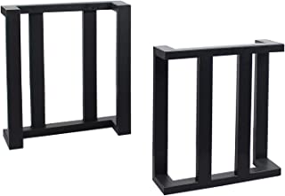 MBQQ 家具脚 高さ15.7インチ x 幅17.7インチ 2ピース 素朴な装飾C形状テーブル脚 高耐久メタルデスク脚 ダイニングテーブルの脚 DIYアイロンベンチ脚