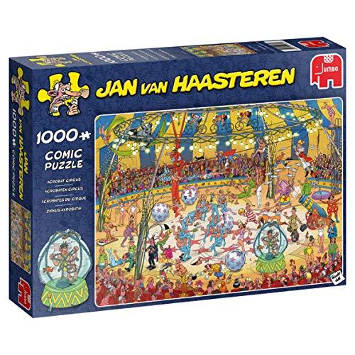 Jan van Haasteren 19089 Akrobat Zirkus, 1000 Teile Puzzle, Multi