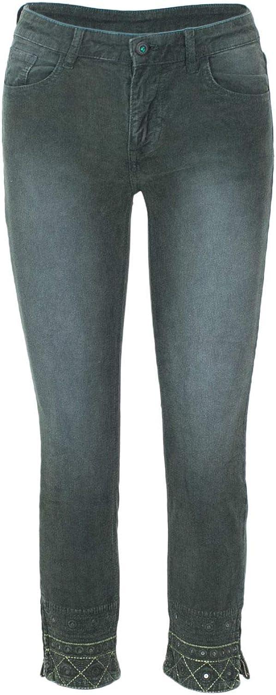 DESIGUAL Women's 18WWPN09GREEN Green Cotton Pants