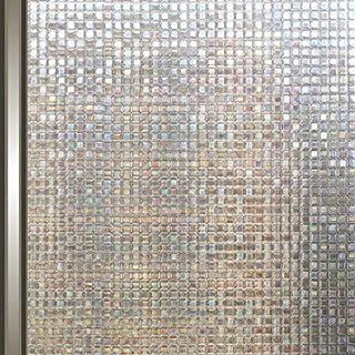 AIDON 窓 めかくしシート 窓用フィルム ガラスフィルム UVカット 窓飾りシート 断熱 遮光 水で接着 貼り直し可能 (90*300cm)