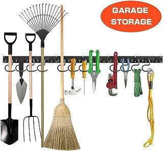 Garage Storage, MAYAGO 48 Inches Adjustable Garage Wall Organizer System Wall Mount Tools Organizer for Garden