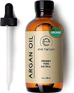 Eve Hansen USDA Certified Organic Argan Oil (4oz) | Pure Moroccan Argan Oil for Hair, Skin and Nails | Carr...
