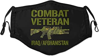 Combat Veteran Iraq and Afghanistan Mens Woman Travel Outdoor Washable Reusable Dust Mask
