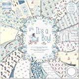 First Edition It's a Boy - Bloc de de Papel para Manualidades (30,5 x 30,5 cm, 48 Hojas)