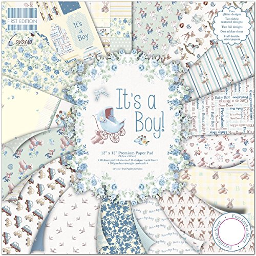 First Edition It's a Boy Premium Paper Pad 12