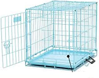 HANU Blue Cage/Crate/Kennel with Removable Tray for Dogs/Cats, (18inch) 02
