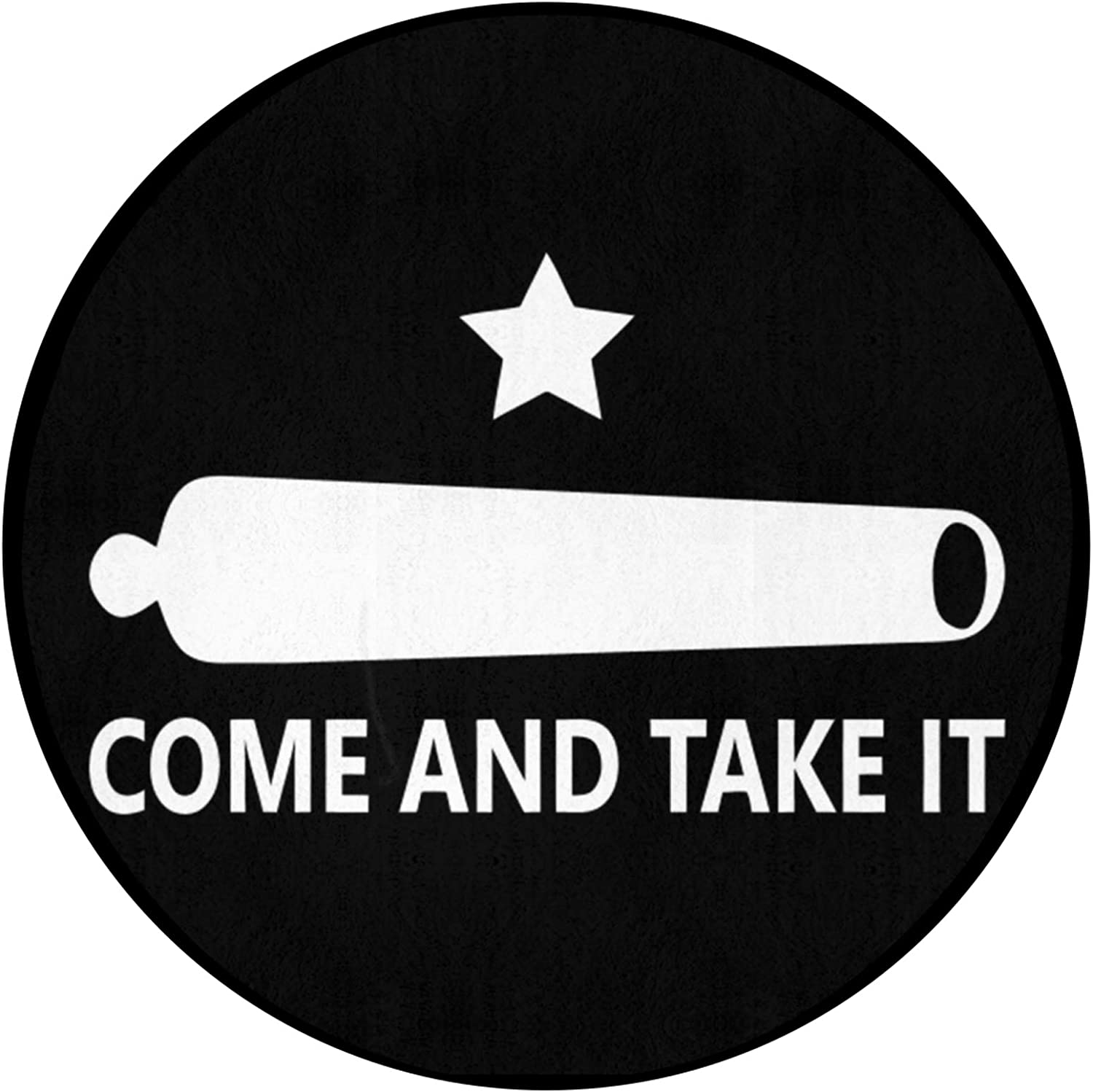 FRSH service MNT Gonzales Flag Come and Round Non-Sl It Take Durable Seasonal Wrap Introduction Mat