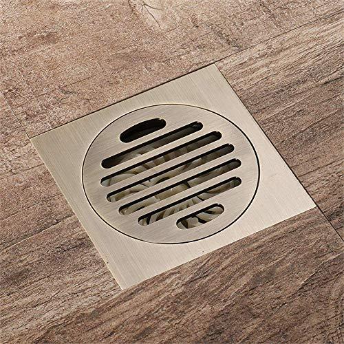 NINGXUE-MAOY Piso de Cobre Puro sifón Square Baño WC Cocina Drenaje extraíble desagüe en el Suelo Desodorante (100 mm u0026 Veces; 100 mm)