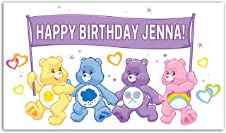The Care Bears Birthday Banner Personalized Party Backdrop