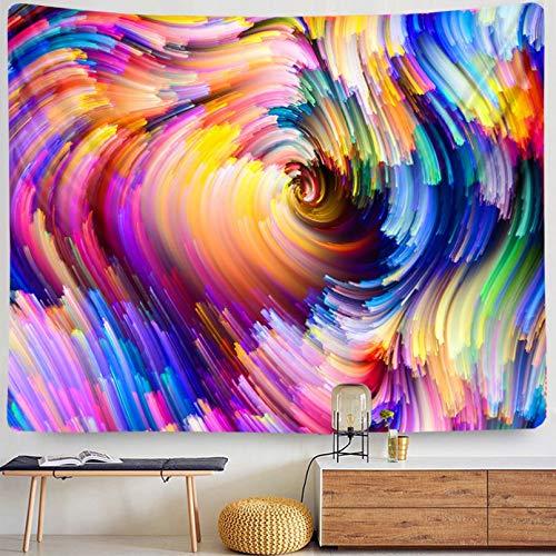 N/A Tapices 3D Impresión Macramé Colgante de Pared Colorido Arte Digital remolinos Espiral Hippie Tapiz Bohemio decoración del hogar decoración de Dormitorio Juvenil Regalos de decoración del hogar