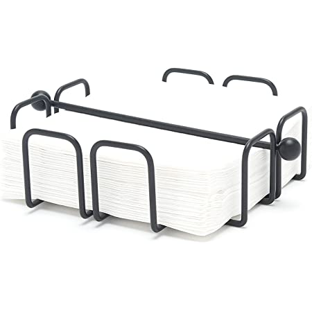 simplywire - Napkin/Serviette Holder with Weighted Bar - Black