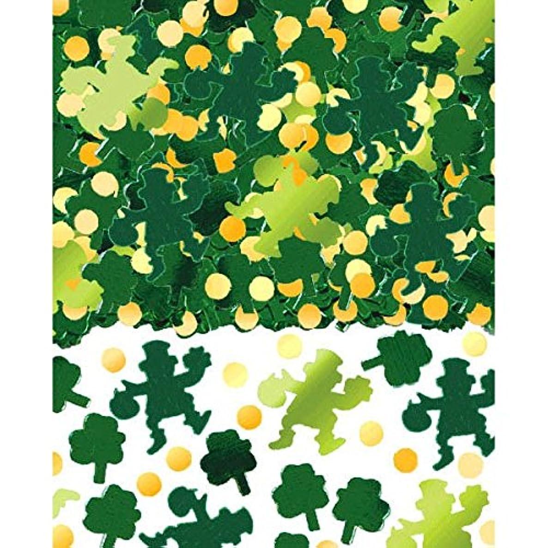 Amscan 379968 Shamrocks Big Pack Foil Confetti, 2 1/2 oz, Green