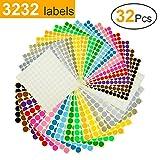 Etichette Adesive Colorate Etichette Autoadesive Rotonde Cerchio 32 Fogli 16 Colori 3232 P...