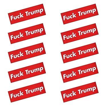 10 Pcs Fuck Trump Donald Trump Election Patriotic Bumper Sticker Auto Decal Conservative Republican (H01)