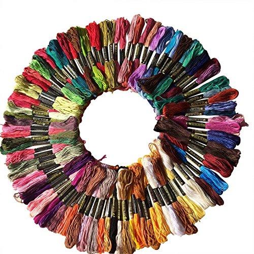 Hrph 100 Piezas DMC hilo de algodón bordado de hilo de coser...