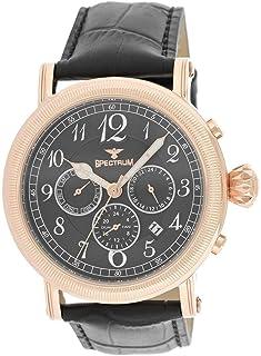 Spectrum Men's Rose Gold Case White Dial Multi Function Dress Watch