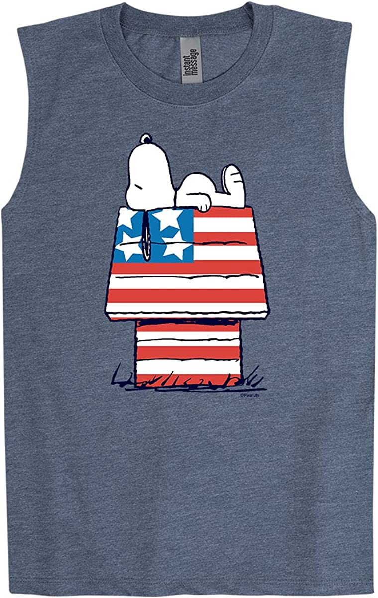 Peanuts - Flag House - Youth Muscle Tank
