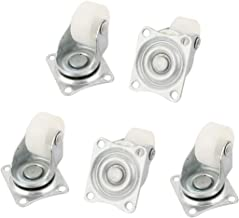 uxcell Chair Trolley Carts 25mm PP Wheel Swivel Top Plate Caster 5pcs