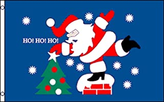 ALBATROS 3 ft x 5 ft Merry Christmas Santa Claus Chimney SuperPoly Flag House Banner for Home and Parades, Official Party, All Weather Indoors Outdoors